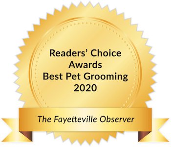 Woof Gang Bakery award seal - Best Grooming Salon in Fayetteville