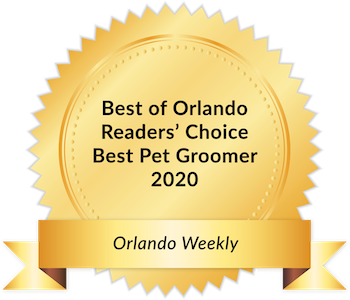Woof Gang Bakery award seal - Best Grooming Salon in Orlando