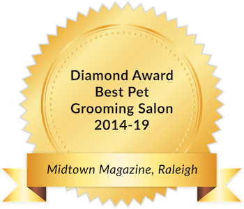 Woof Gang Bakery award seal - Best Grooming Salon in Raleigh