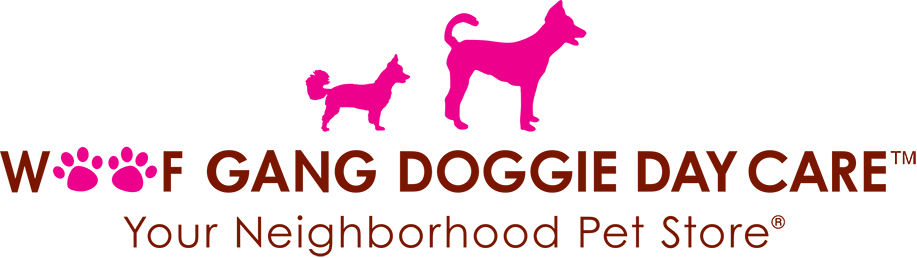 Woof Gang Bakery, doggie day care logo